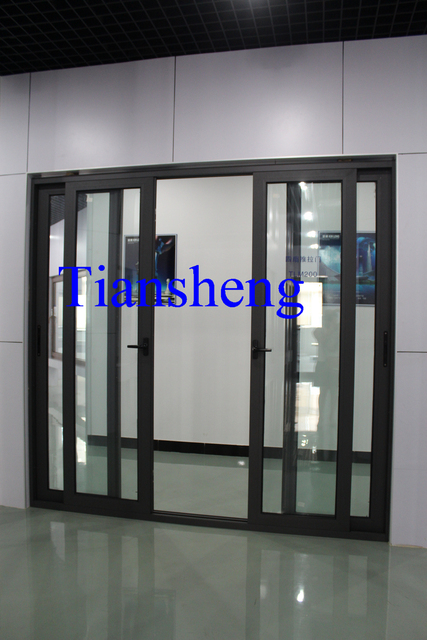 Australian Standard Large Sliding Door With Double Glazing Glass And  Crimsafe Screens