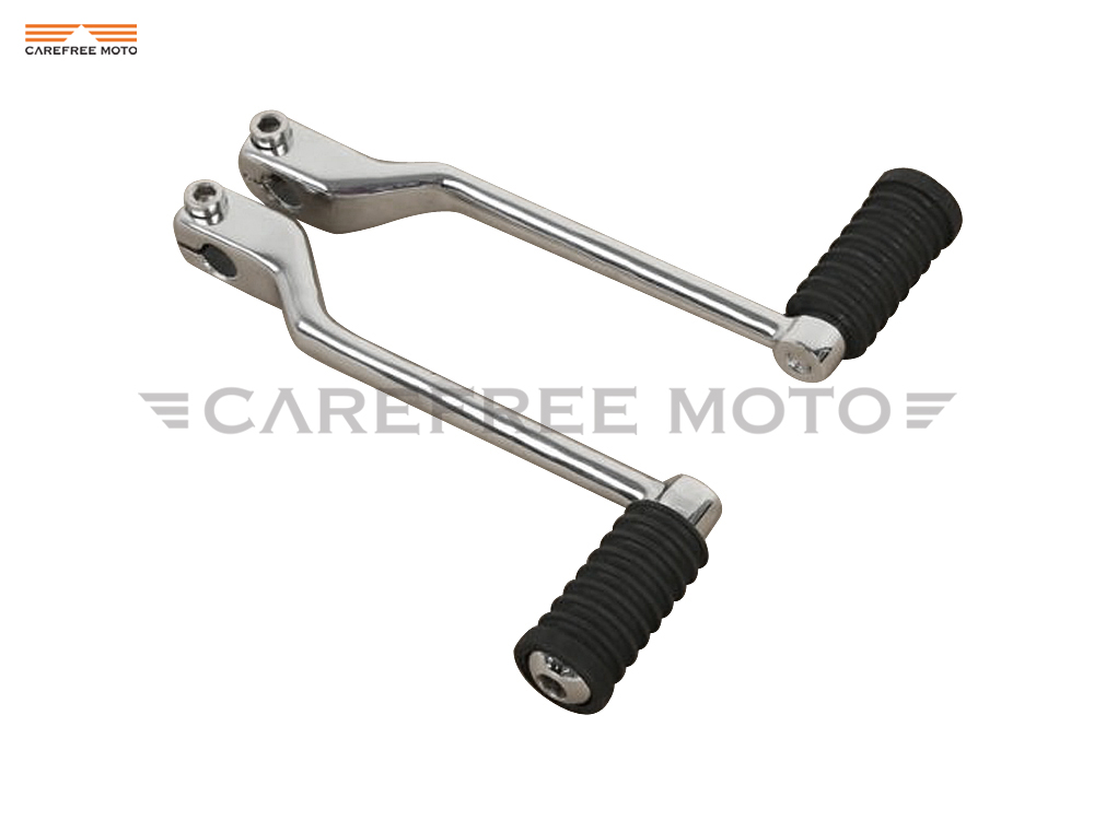 Chrome Left Heel Toe Motorcycle Shift Lever Pedal Set Moto Shifter Levers Case for Harley Touring FL Softail 1988-Up Trike