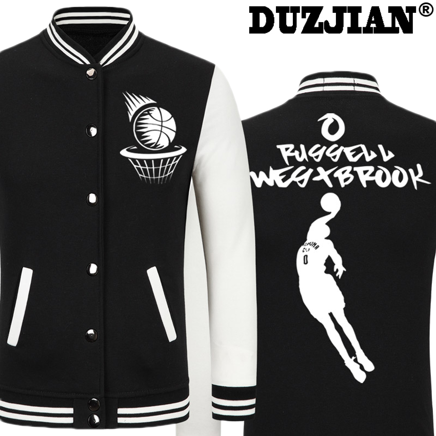 2016 Spring new Thundere Russell Westbrook casual jacket Big Fundamental cheap men winte ...