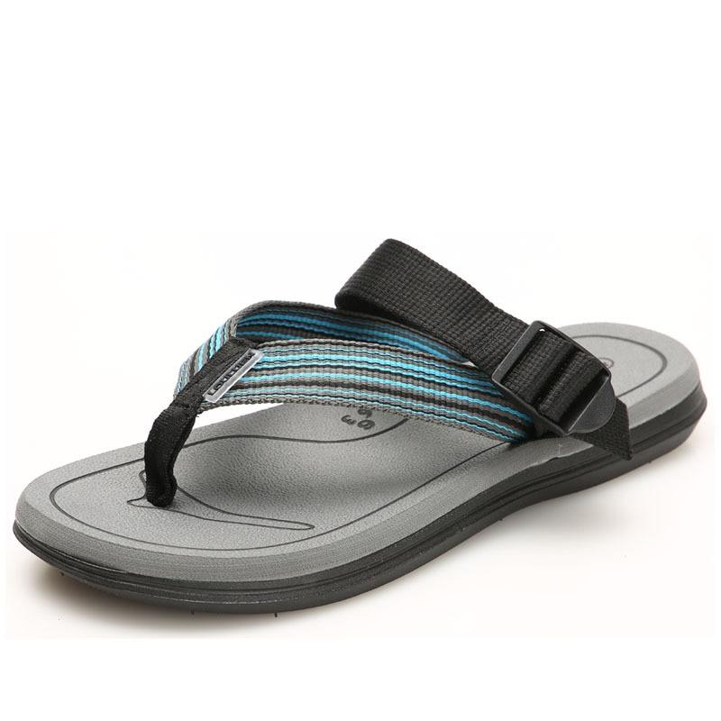 Fashion Big Size 36 45 Men 39 s Summer Shoes Men Slippers Slip On Beach Flip Flops Couple Footwear Soft Man Sandals in Flip Flops from Shoes