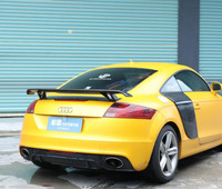 JINGHANG Carbon Fiber Car Rear Wing Trunk Lip Spoilers For 08 14 Audi TT TTRS Coupe Convertible 2 Door 2008 2014