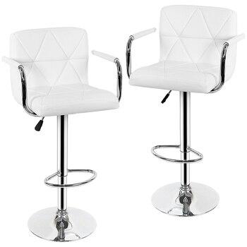 Nouveau 2 pièces moderne chaise de Bar pivotant tabouret de Bar réglable levage tabouret haut chaise de bar tabouret de Bar doux pour la maison Bar meubles HWC