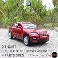 X6 (E71) Diecast Alloy Toy Car 1:32 Model Pull Back Car High Simulation Metal Car Vehicle Model Toys