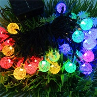 Outdoor IP65 Waterproof Solar LED Bubble String Lights For Christmas Decoration 30LED White Blue Pink Red
