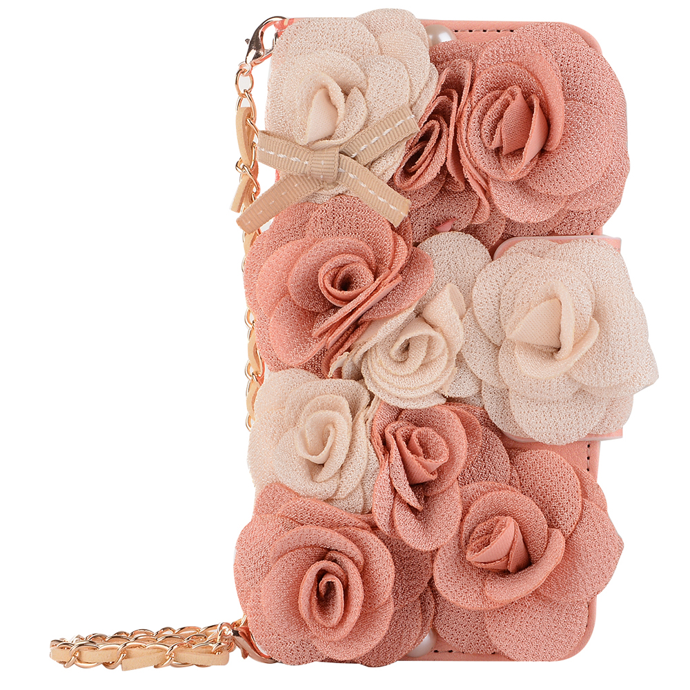 double-pink-beige-rose-strap-banquet-purse-wallet-flip-leather-case-cover-for-samsung-galaxy-s6-s7-e