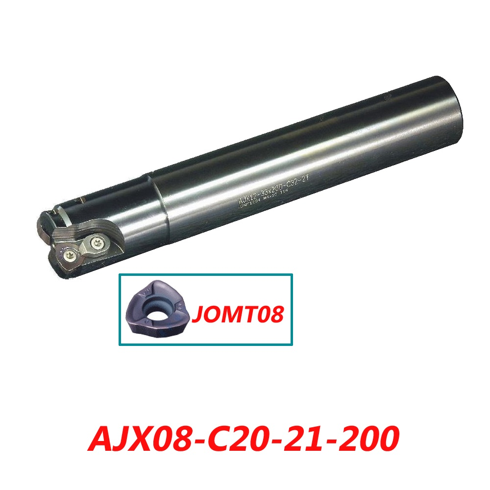 Free Shipping AJX08-C20-21-200 High Feedrate End Mill Cutter Suitable For Insert JOMT080320ZZSR