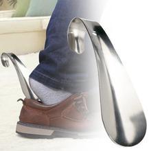1 шт прочная ручка Профессиональный металл Нержавеющая сталь серебро Цвет ложка для обуви короткие Shoespooner