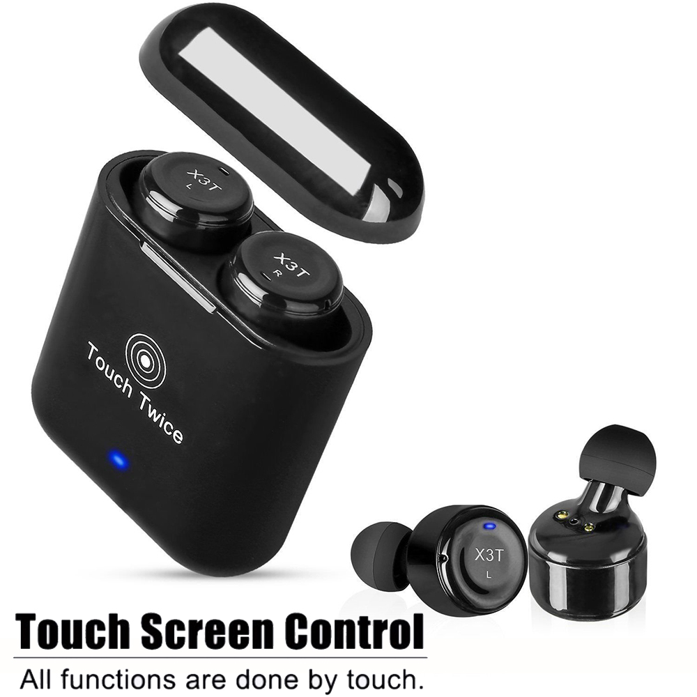 Mini TWS Twins Bluetooth Earphones Wireless Earbud Touch Control Stereo Bluetooth Headsets with Mic and Charging Case 2017 scomas i7 mini bluetooth earbud wireless invisible headphones headset with mic stereo bluetooth earphone for iphone android