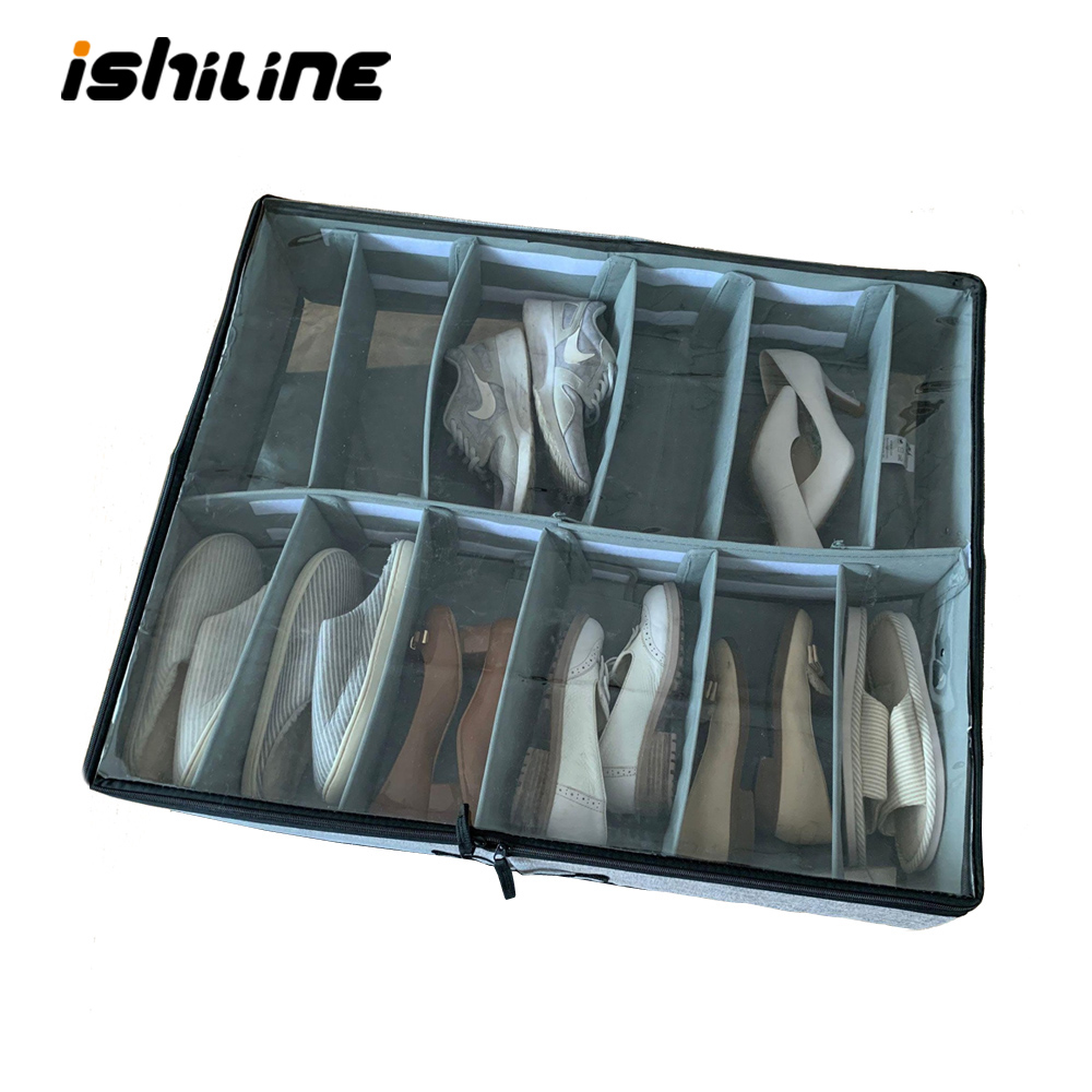 Super Large Free Assembly Shoes Storage Box Cotton Shoes Container High Quality Washable Clear Box