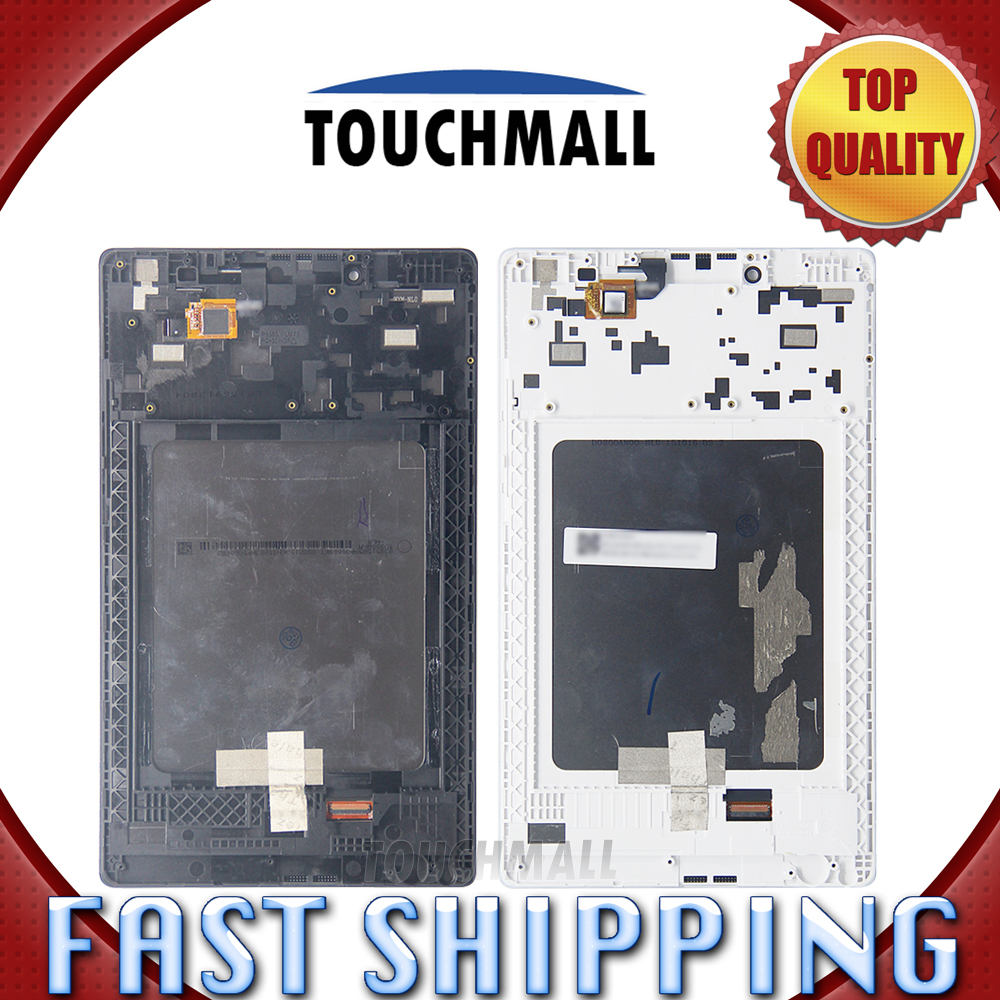 For New LCD Display Touch Screen+Frame Assembly Replacement For Lenovo Tab3 TAB3-850 TB3-850F TB3-850M Black White Free Shipping