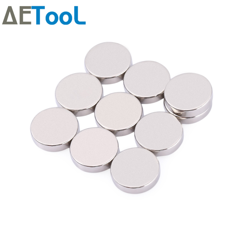 AETool 10Pcs Mini Small N38 Magnet 10x1 10x2 12x1 12x2 15x1 Mm Neodymium Magnet Permanent NdFeB Super Strong Powerful  Magnets