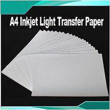 20 листов A4 струйный легкая копировальная бумага для DIY Футболка тепла Пресс печать
