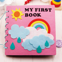 Vroege onderwijs doek boek Kleuterschool self-made foto boeken diy kinderen handleiding DIY productie kit