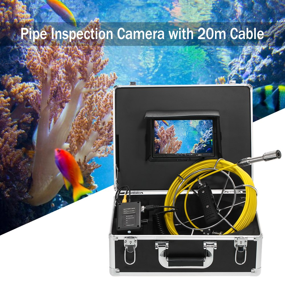 Lixada 30M Drain Pipe Sewer Inspection Camera Waterproof Endoscope Borescope Inspection System Snake Camera 12 LEDs Night VisionLixada 30M Drain Pipe Sewer Inspection Camera Waterproof Endoscope Borescope Inspection System Snake Camera 12 LEDs Night Vision