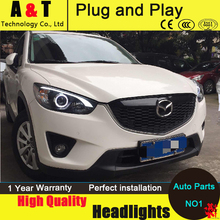 Car Styling For MAZDA CX-5 headlights 2011-2014 CX5 led headlight new cx-5 led drl projector headlight H7 hid Bi-Xenon Lens