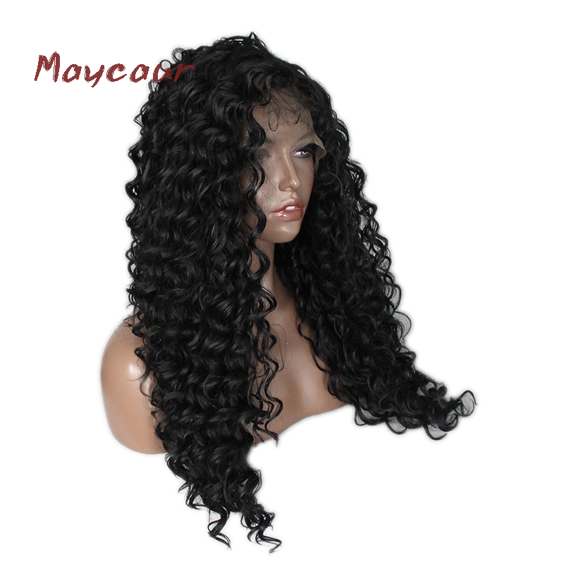 synthetic hair that can be heat styled curly synthetic hair wigs with baby hair fashion 9212