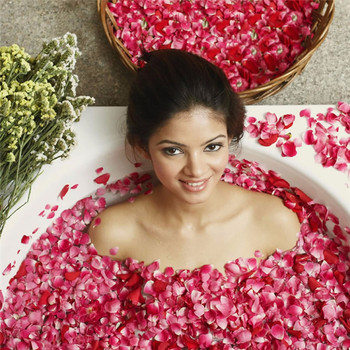 1 Pack Dried Rose Petals Natural Flower Bath Spa Whitening Shower Dry Rose Flower Petal Bathing Relieve Fragrant Body Massager 5