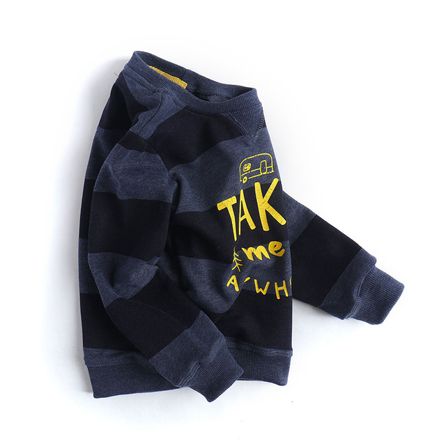 Cheng Park Boys with cashmere sweater Terry thickened children sweater sleeve head neck sweater backing Tong Baobao