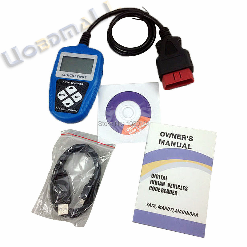 US $74 0 |QUICKLYNKS T65 OBD 2 Auto Diagnostic Tool for Indian Car Scanner  Code Reader for Mahindra,Maruti,Tata-in Auto Key Programmers from