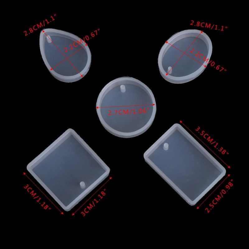 1ピース/5ピースdiyシリコーン金型クラフト金型用樹脂ネックレスジュエリーペンダントを作る