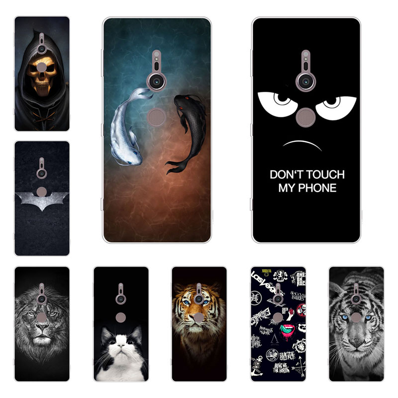 For Sony Xperia Xz2 case,Silicon Gossip fish Painting Soft TPU Back Cover for Sony Xperia Xz2 protect Phone shell