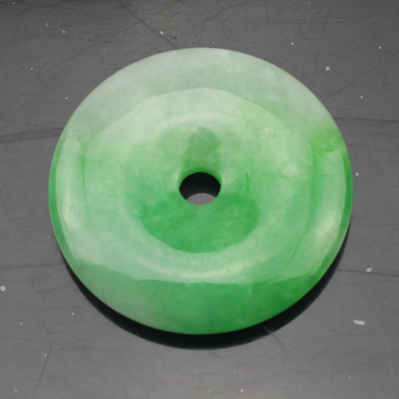 38mm donut shape Myanmar greenstone GEM beads natural stone beads DIY loose beads for jewelry making