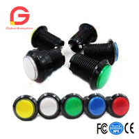 5 Pcs 1 Inch Round Lit Illuminated Arcade Video Game Push Button Switch With LED Light
