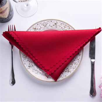 10pcs Table Napkin 48cm Square Satin Fabric Pocket Handkerchief Cloth for Wedding Decoration Event Party Hotel home Supplies Table Napkins