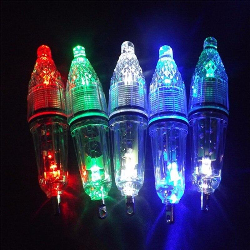 12cm LED Fishing Lure Light Waterproof Fast Fish Attractor Deep Underwater 0-300M Squid Fishing Bait Lights