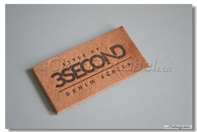 genuine leather label with embossed logo accept small order no moq