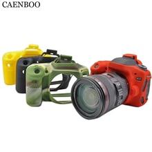 Caenboo 80D Камера сумка Мягкая силиконовая резина защитный Для тела Красочные камуфляж кожного покрова чехол для Canon EOS 80D Камера сумка