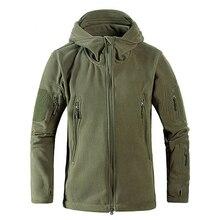Erkek rüzgar geçirmez tad taktik polar çekim dağ mikro termal polar polar kapşonlu ceket ordu kıyafetleri nefes askeri