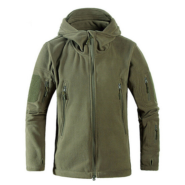 Veste en molleton à capuche pour homme, coupe vent, tad, tir de montagne, micro polaire thermique, vêtements militaires respirants