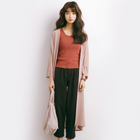 summer Cardigan blouse women Open Front Beach Loose Kimono girls black pink and blue Casual Long Cardigan Tops Outwear M532