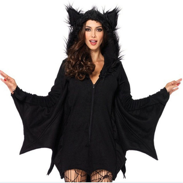 2018new venta likehot cakes sexy halloween trajes para nia luna bat costumebest venta murcilago de halloween costumewomen