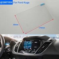 Para ford kuga fuga mondeo fusão estilo do carro gps tela de navegação vidro película protetora painel exibição película protetora