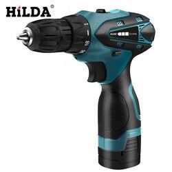 HILDA 電気ドリルコードレスドライバーリチウム電池ミニドリルコードレスドライバー工具コードレスドリル