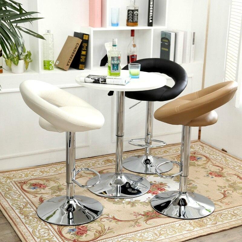 High quality Bar chair lift bar stool stool fashion leisure front swivel chair high quality rattan stool leisure dia32 h42 cm