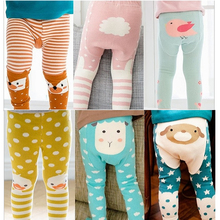 Baby Tights todler Boy Cartoon Girls Bear Cotton boy infant Kids Stockings Spring/Autumn Meias Children Tights baby Pantyhose
