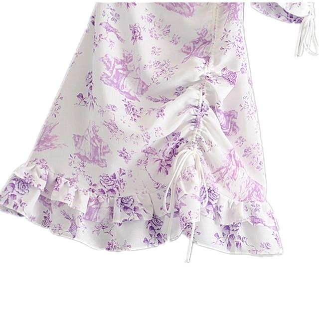 Floral Print Puff Sleeve Dress 4