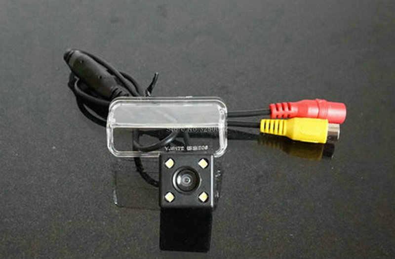 Pour PEUGEOT 206 207 407 307 caméra de recul avec ligne de stationnement étanche Vision nocturne 4LED CCD caméra de recul