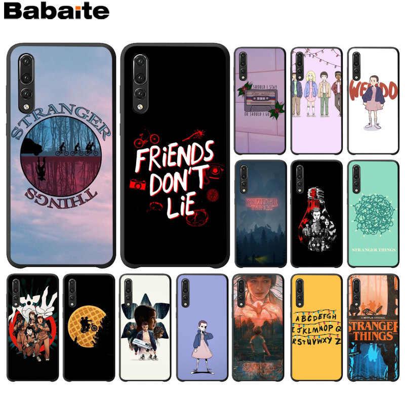 Babaite Stranger Things Christmas Lights TPU black Phone Case for Huawei P10 plus 20 pro P20 lite mate9 10 lite honor 10 view10