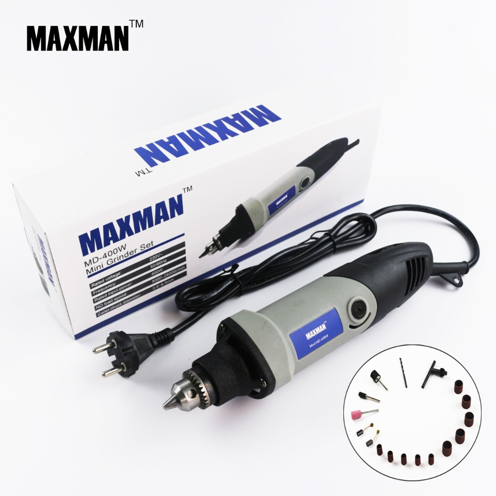 MAXMAN Professional Electric Mini Die Grinder  400w Dremel Tool 0.6~6.5mm Chuck Variable Speed Rotary Tool DIY Multi Power Tools dremel red 220v electric grinder variable speed rotary power tool
