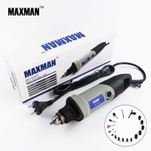 MAXMAN Professional Electric Mini Die Grinder  400w Dremel Tool 0.6~6.5mm Chuck Variable Speed Rotary Tool DIY Multi Power Tools dremel multi pro 230v electric grinder 5 variable speed power rotary tool set