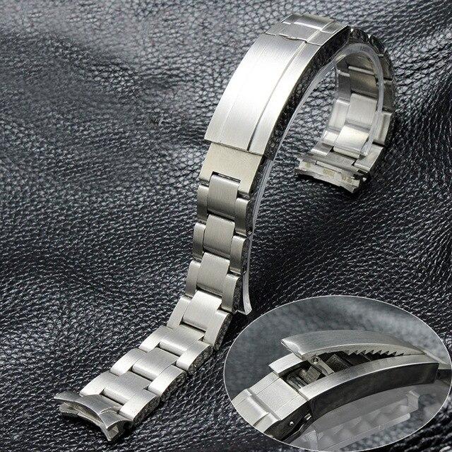 MERJUST 20mm 21mm 316L Argent en acier Inoxydable bracelets de montre Bracelet Pour RX Daytona Sous-Marin Rôle Sous-marin DEEPSEA Bracelet