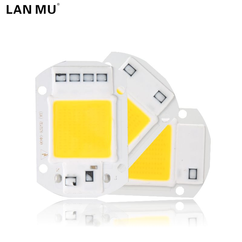 LAN MU LED COB Lamp Chip 10W 20W 30W 50W 220V 110V Input Smart IC Driver Fit For DIY LED Floodlight Spotlight ynl cob led lamp bulb 50w 30w 20w 220v input led chip smart ic fit no driver high lumens for diy led flood light spotlight