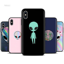 Silicone Black Coque Case for iPhone XR X XS MAX 7 8 6 6S Plus 5 5S SE 5C 7Plus 8Plus Mobile Phone Alien Believe UFO ET cute