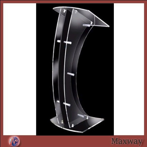 Custom Transparent Acrylic Church Lectern / Pulpit / Lectern Hot Selling Church Lectern Plexiglass