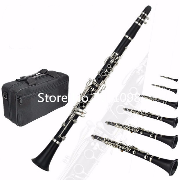 UPS DHL free shipping Hot Sale New High quality Brand Clarinet YCL-255 17 key B Clarinet Silver plated keys clarinete Free klein bosch