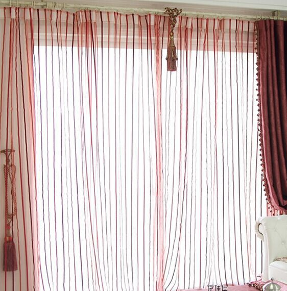 Online Get Cheap Sheer Red Curtains -Aliexpress.com | Alibaba Group